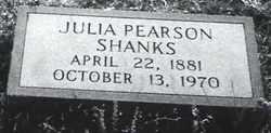 PEARSON SHANKS, JULIA BELLE - Autauga County, Alabama   JULIA BELLE PEARSON SHANKS - Alabama Gravestone Photos