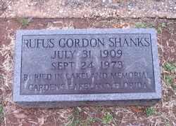 SHANKS, RUFUS GORDON - Autauga County, Alabama | RUFUS GORDON SHANKS - Alabama Gravestone Photos