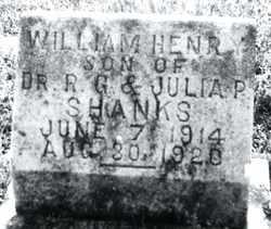 SHANKS, WILLIAM HENRY - Autauga County, Alabama | WILLIAM HENRY SHANKS - Alabama Gravestone Photos