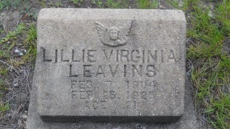 LEAVINS, LILLIE VIRGINIA - Baldwin County, Alabama | LILLIE VIRGINIA LEAVINS - Alabama Gravestone Photos