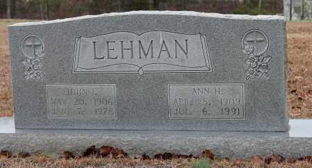 LEHMAN, ANN H - Blount County, Alabama | ANN H LEHMAN - Alabama Gravestone Photos