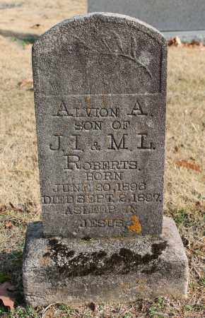 ROBERTS, ALVION A - Blount County, Alabama   ALVION A ROBERTS - Alabama Gravestone Photos