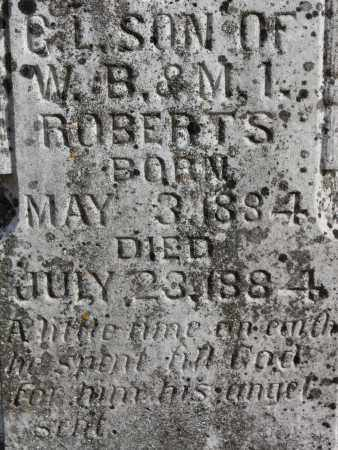 ROBERTS (CLOSEUP), C L - Blount County, Alabama | C L ROBERTS (CLOSEUP) - Alabama Gravestone Photos