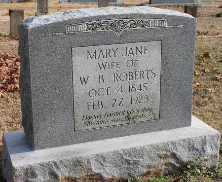 ROBERTS, MARY JANE - Blount County, Alabama | MARY JANE ROBERTS - Alabama Gravestone Photos