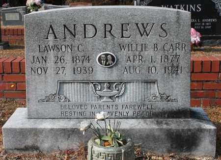 ANDREWS, WILLIE B - Calhoun County, Alabama | WILLIE B ANDREWS - Alabama Gravestone Photos