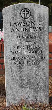 ANDREWS (VETERAN WWII), LAWSON C - Calhoun County, Alabama | LAWSON C ANDREWS (VETERAN WWII) - Alabama Gravestone Photos