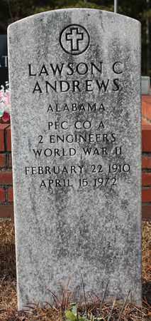 ANDREWS (VETERAN WWII), LAWSON C - Calhoun County, Alabama | LAWSON C ANDREWS (VETERAN WWII) - Alabama Gravestone Photos