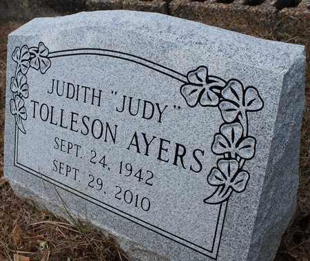 TOLLESON AYERS, JUDITH - Calhoun County, Alabama | JUDITH TOLLESON AYERS - Alabama Gravestone Photos