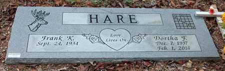 HARE, DORTHA F - Calhoun County, Alabama   DORTHA F HARE - Alabama Gravestone Photos