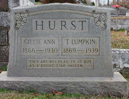 HURST, GILLIE ANN - Calhoun County, Alabama | GILLIE ANN HURST - Alabama Gravestone Photos