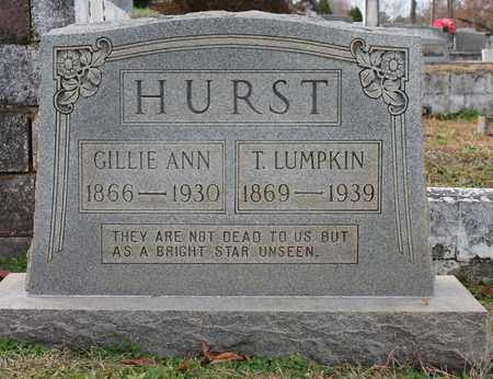 HURST, T LUMPKIN - Calhoun County, Alabama | T LUMPKIN HURST - Alabama Gravestone Photos