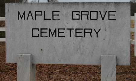 *MAPLE GROVE CEMETERY SIGN,  - Calhoun County, Alabama |  *MAPLE GROVE CEMETERY SIGN - Alabama Gravestone Photos
