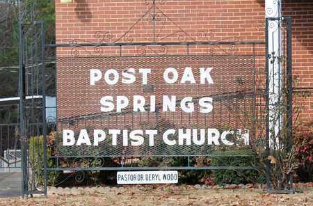 *POST OAK CEMETERY SIGN,  - Calhoun County, Alabama |  *POST OAK CEMETERY SIGN - Alabama Gravestone Photos