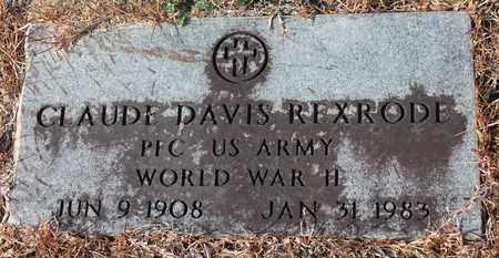 REXRODE (VETERAN WWII), CLAUDE DAVIS - Calhoun County, Alabama   CLAUDE DAVIS REXRODE (VETERAN WWII) - Alabama Gravestone Photos