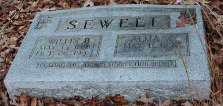 SEWELL, ALMA W - Calhoun County, Alabama | ALMA W SEWELL - Alabama Gravestone Photos