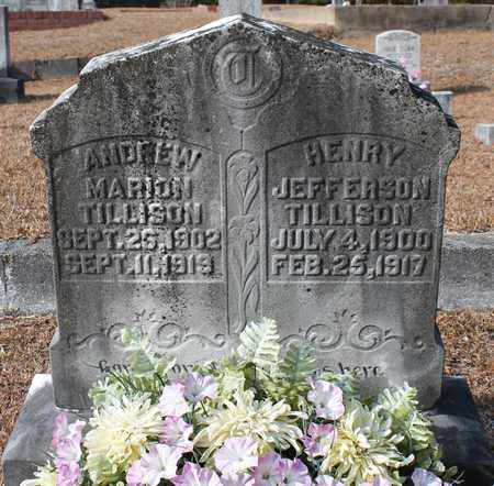 TILLISON, ANDREW MARION - Calhoun County, Alabama   ANDREW MARION TILLISON - Alabama Gravestone Photos