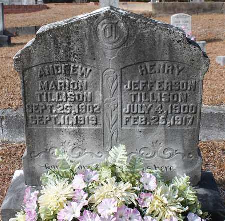 TILLISON, HENRY JEFFERSON - Calhoun County, Alabama | HENRY JEFFERSON TILLISON - Alabama Gravestone Photos