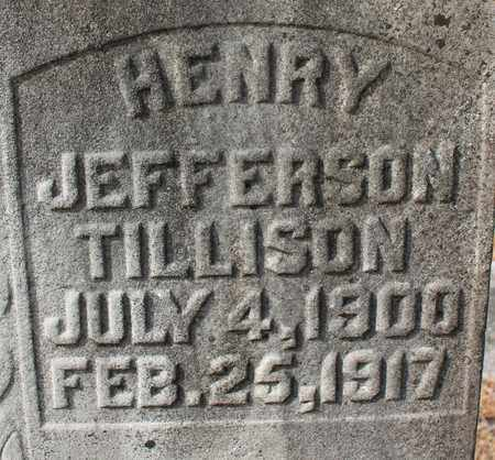 TILLISON (CLOSEUP), HENRY JEFFERSON - Calhoun County, Alabama | HENRY JEFFERSON TILLISON (CLOSEUP) - Alabama Gravestone Photos