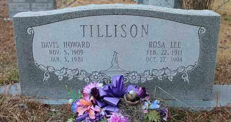 TILLISON, DAVIS HOWARD - Calhoun County, Alabama   DAVIS HOWARD TILLISON - Alabama Gravestone Photos