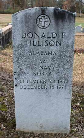 TILLISON (VETERAN KOR), DONALD F - Calhoun County, Alabama | DONALD F TILLISON (VETERAN KOR) - Alabama Gravestone Photos
