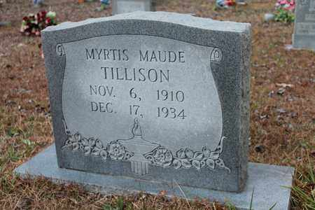 TILLISON, MYRTIS MAUDE - Calhoun County, Alabama | MYRTIS MAUDE TILLISON - Alabama Gravestone Photos