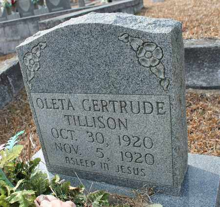 TILLISON, OLETA GERTRUDE - Calhoun County, Alabama   OLETA GERTRUDE TILLISON - Alabama Gravestone Photos