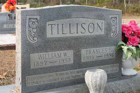 TILLISON, FRANCES F - Calhoun County, Alabama | FRANCES F TILLISON - Alabama Gravestone Photos
