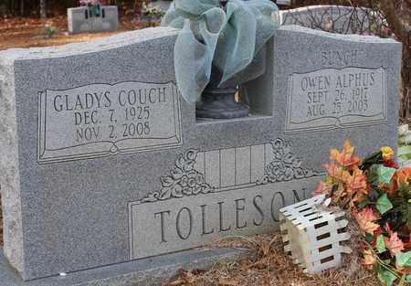 COUCH TOLLESON, GLADYS - Calhoun County, Alabama | GLADYS COUCH TOLLESON - Alabama Gravestone Photos