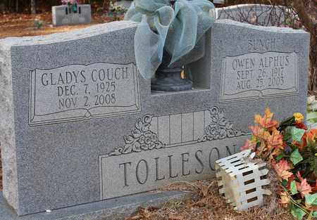 COUCH TOLLESON, GLADYS - Calhoun County, Alabama | GLADYS COUCH TOLLESON - Alabama Gravestone Photos