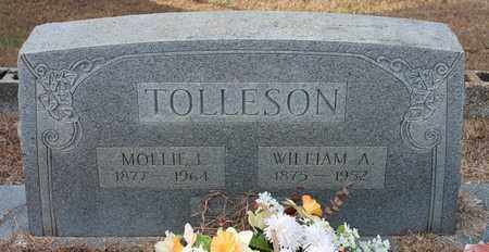 TOLLESON, WILLIAM A - Calhoun County, Alabama | WILLIAM A TOLLESON - Alabama Gravestone Photos