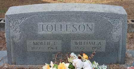 TOLLESON, WILLIAM A - Calhoun County, Alabama | WILLIAM A TOLLESON - Alabama Gravestone Photos