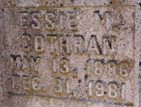 COTHRAN (CLOSEUP), ESSIE M - Cherokee County, Alabama | ESSIE M COTHRAN (CLOSEUP) - Alabama Gravestone Photos