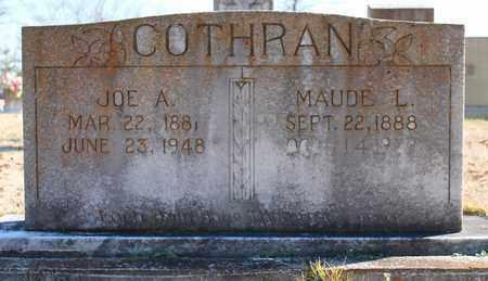 COTHRAN, JOE A - Cherokee County, Alabama | JOE A COTHRAN - Alabama Gravestone Photos