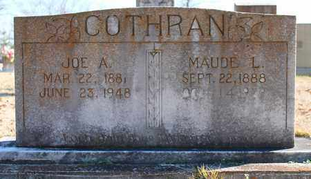 COTHRAN, MAUDE L - Cherokee County, Alabama | MAUDE L COTHRAN - Alabama Gravestone Photos