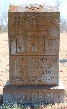 COTHRAN, JAMES Y - Cherokee County, Alabama | JAMES Y COTHRAN - Alabama Gravestone Photos