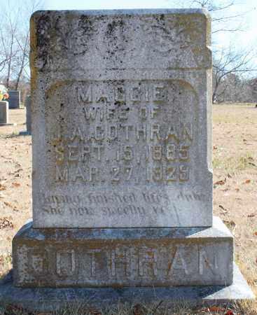 COTHRAN, MAGGIE - Cherokee County, Alabama   MAGGIE COTHRAN - Alabama Gravestone Photos
