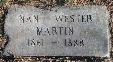 WESTER MARTIN, NAN - Cherokee County, Alabama   NAN WESTER MARTIN - Alabama Gravestone Photos