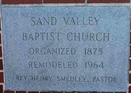 *SAND VALLEY CEMETERY SIGN,  - Cherokee County, Alabama |  *SAND VALLEY CEMETERY SIGN - Alabama Gravestone Photos