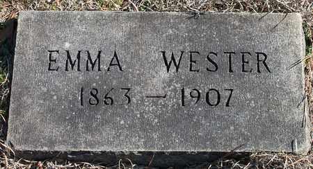 WESTER, EMMA - Cherokee County, Alabama   EMMA WESTER - Alabama Gravestone Photos