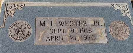 WESTER, JR, M L - Cherokee County, Alabama | M L WESTER, JR - Alabama Gravestone Photos