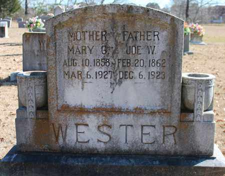 WESTER, MARY G - Cherokee County, Alabama | MARY G WESTER - Alabama Gravestone Photos