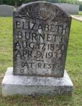 BURNETT, ELIZABETH - Chilton County, Alabama | ELIZABETH BURNETT - Alabama Gravestone Photos