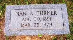 TURNER, NAN A. - Choctaw County, Alabama | NAN A. TURNER - Alabama Gravestone Photos