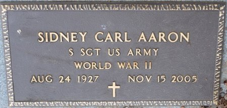 AARON (VETERAN WWII), SIDNEY CARL (NEW) - Colbert County, Alabama | SIDNEY CARL (NEW) AARON (VETERAN WWII) - Alabama Gravestone Photos