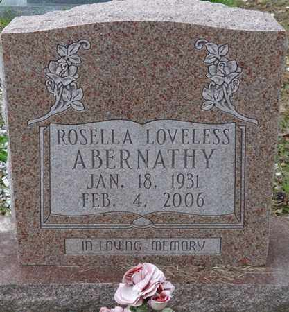 LOVELESS ABERNATHY, ROSELLA - Colbert County, Alabama | ROSELLA LOVELESS ABERNATHY - Alabama Gravestone Photos