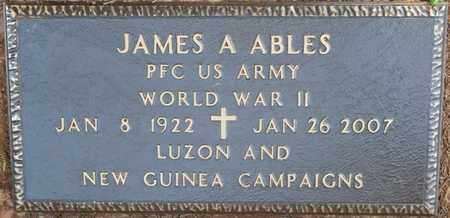 ABLES (VETERAN WWII), JAMES A (NEW) - Colbert County, Alabama   JAMES A (NEW) ABLES (VETERAN WWII) - Alabama Gravestone Photos