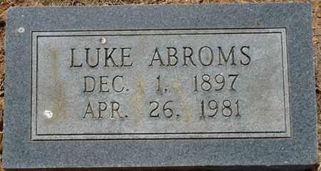 ABROMS, LUKE - Colbert County, Alabama   LUKE ABROMS - Alabama Gravestone Photos