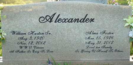 ALEXANDER SR., WILLIAM HASTON - Colbert County, Alabama   WILLIAM HASTON ALEXANDER SR. - Alabama Gravestone Photos