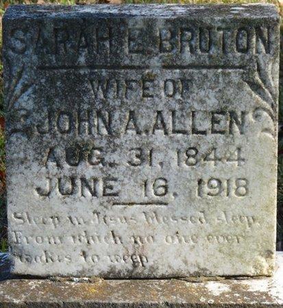 BRUTON ALLEN, SARAH E - Colbert County, Alabama | SARAH E BRUTON ALLEN - Alabama Gravestone Photos