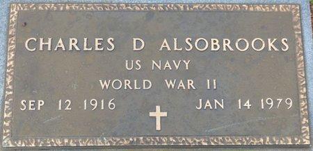 ALSOBROOKS (VETERAN WWII), CHARLES D - Colbert County, Alabama   CHARLES D ALSOBROOKS (VETERAN WWII) - Alabama Gravestone Photos